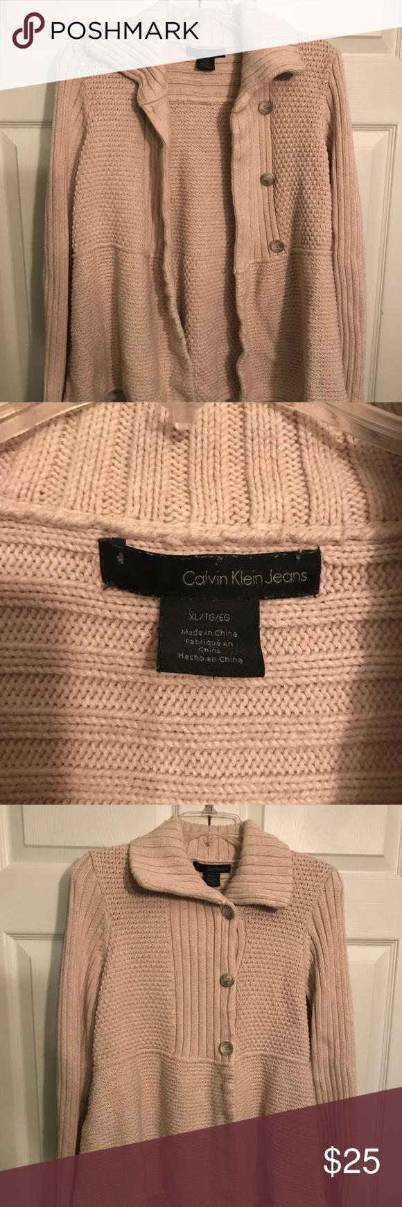 Like NEW women's XL light tan Calvin Klein sweater