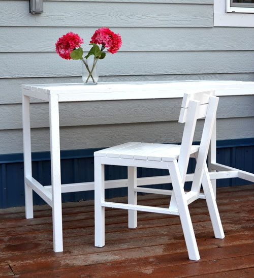 Harriet Outdoor Dining Chair for Small Modern Spaces #anawhite