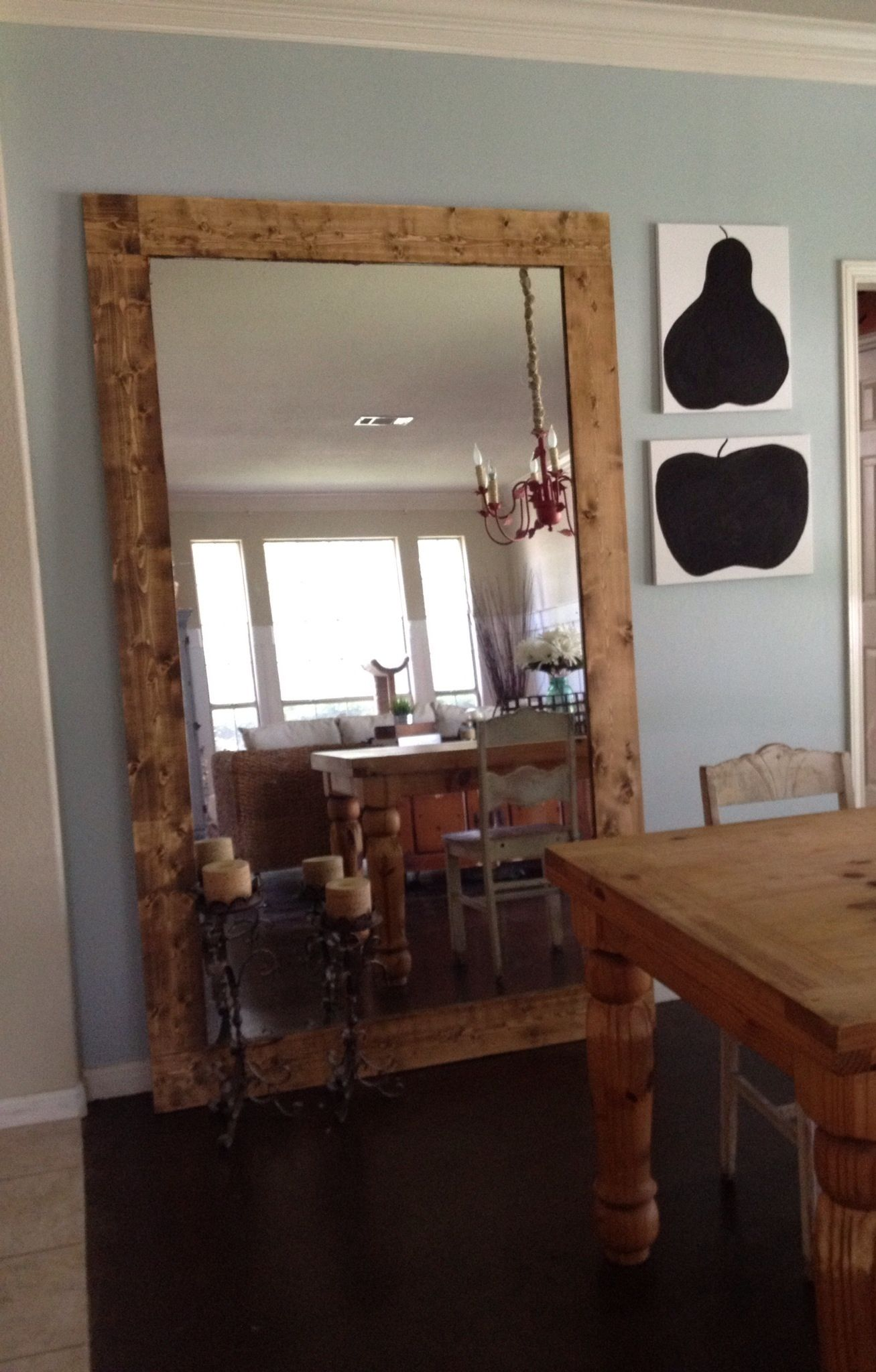 Floor mirror repurposed bathroom mirror