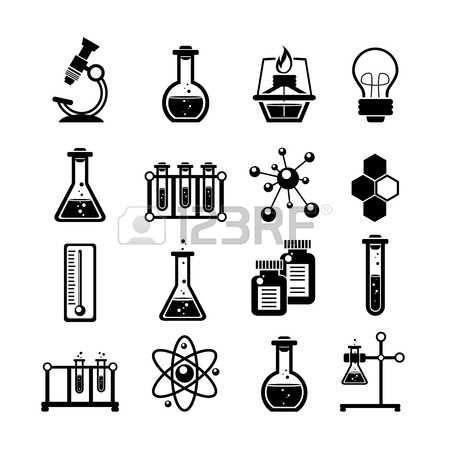 Quimica Quimica Coleccion De Los Iconos De Investigacion Cientifica Con La Tatuaje De Quimica Tatuajes De Ciencias Quimica
