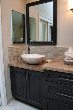 Travertine Countertops Bathroom Master Suite Closet