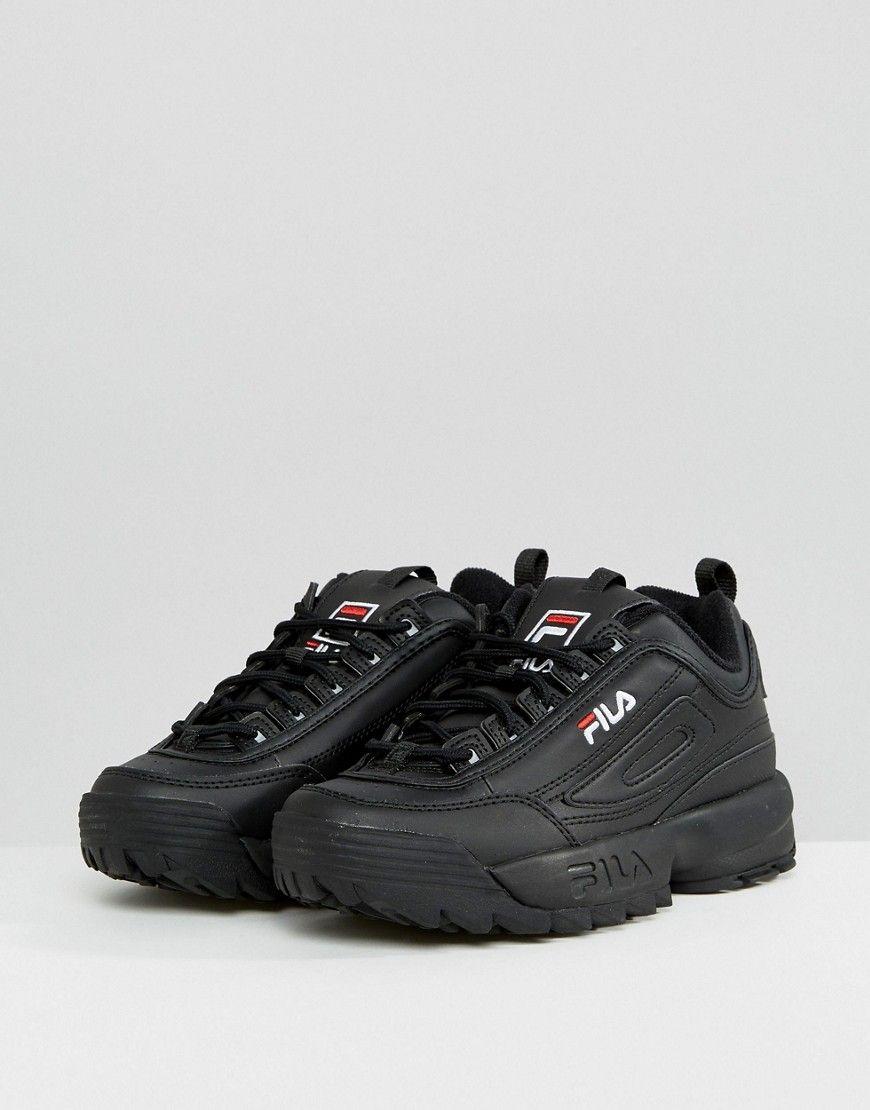 47be4dfed876 Fila Disruptor Low Sneakers In Black - Black
