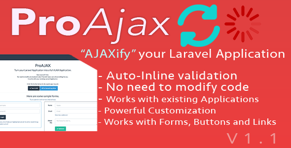 Proajax  Automatically Ajaxify Your Laravel Application By