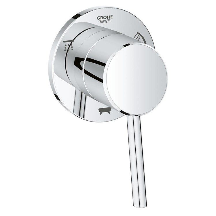 Grohe 29106001 Concetto Three Way Diverter Trim With Lever Handle