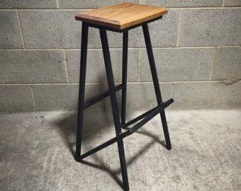 Retro bar stool industrial style breakfast bar stool industrial