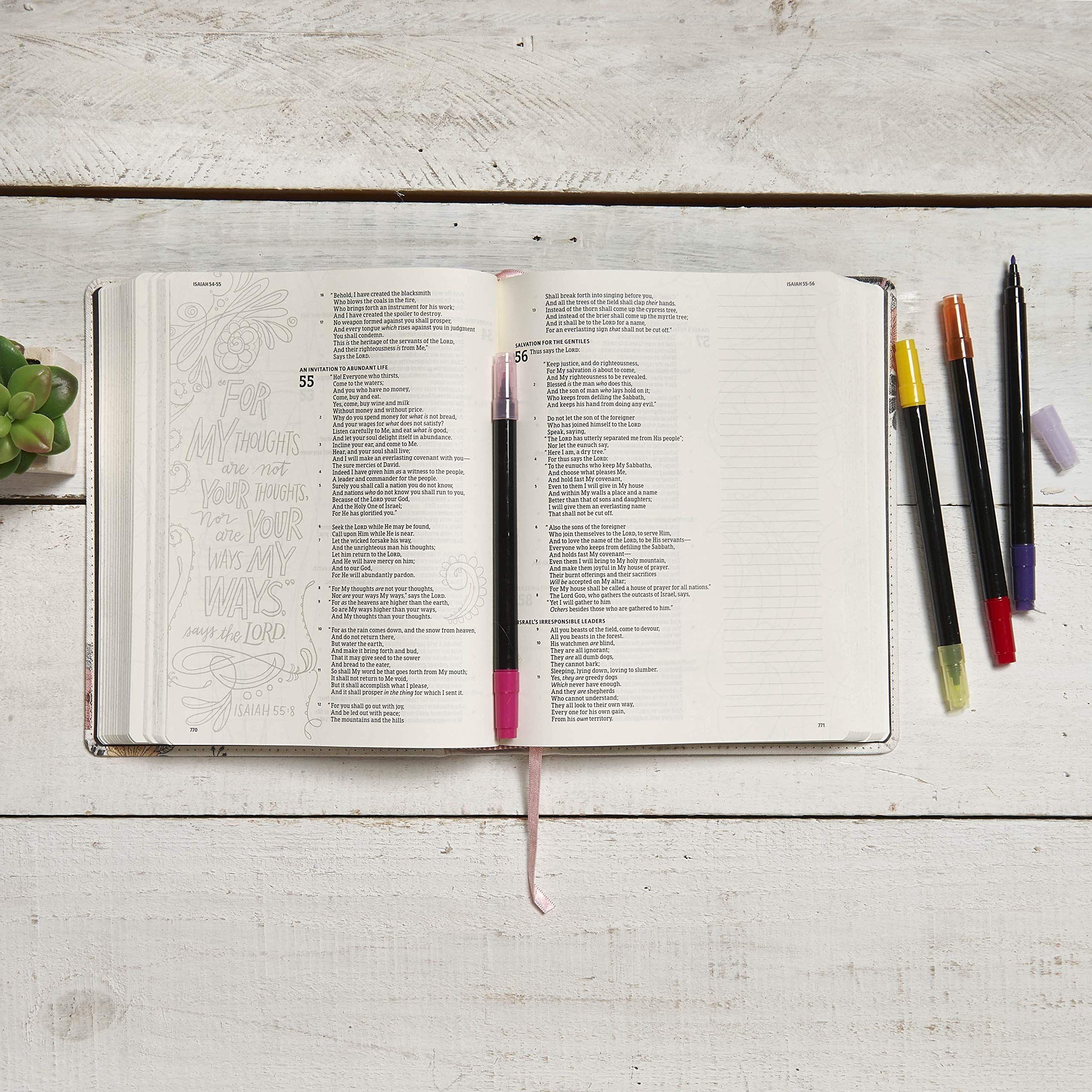 The Illustrator's Notetaking Bible: NKJV Edition, Floral