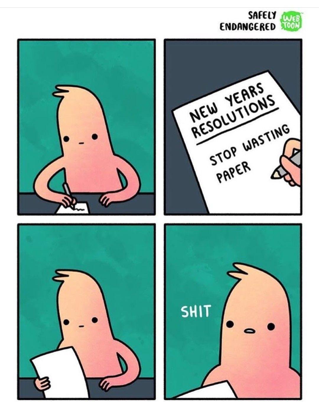 Idea by Fatima Nauman on Comics New years resolution