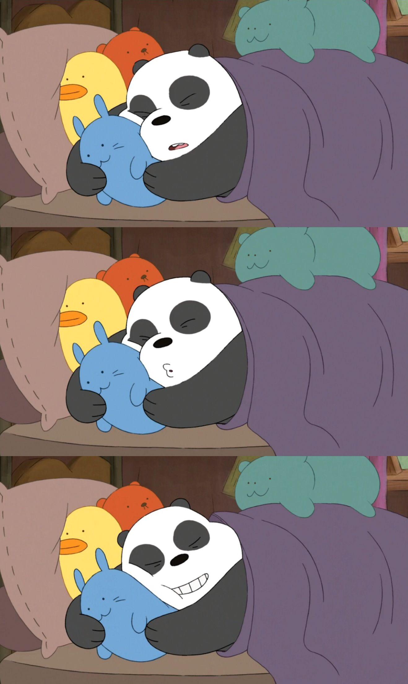 We Bare Bears Panda Sleep Lucu, Wallpaper lucu, Gambar