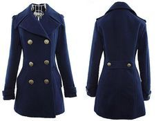 womens navy coat - Google Search | In my closet | Pinterest | Navy ...