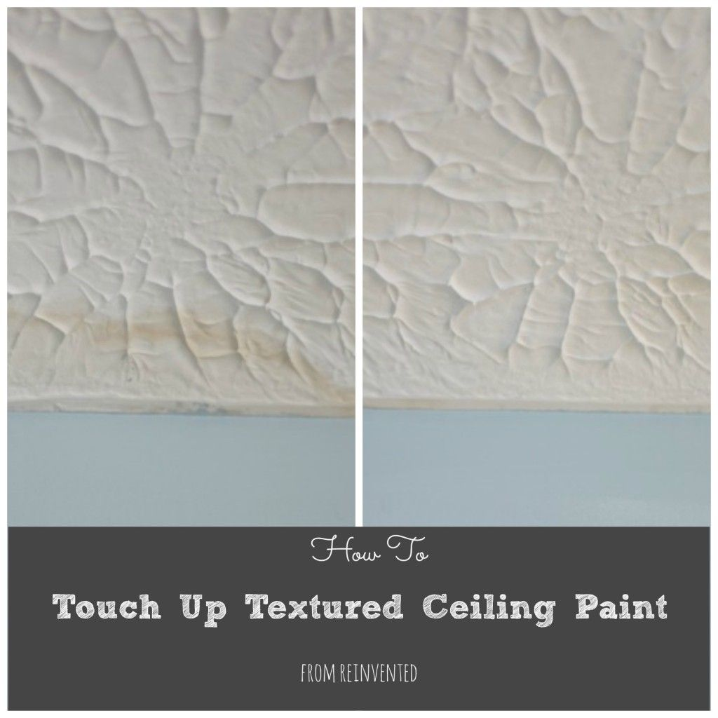 How To Touch Up Textured Ceiling Paint Fix Mistakes Without Repainting Your Entire