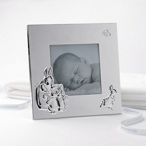 Wedgwood Peter Rabbit Picture Frame 4 X 4 Silver Baby Shower