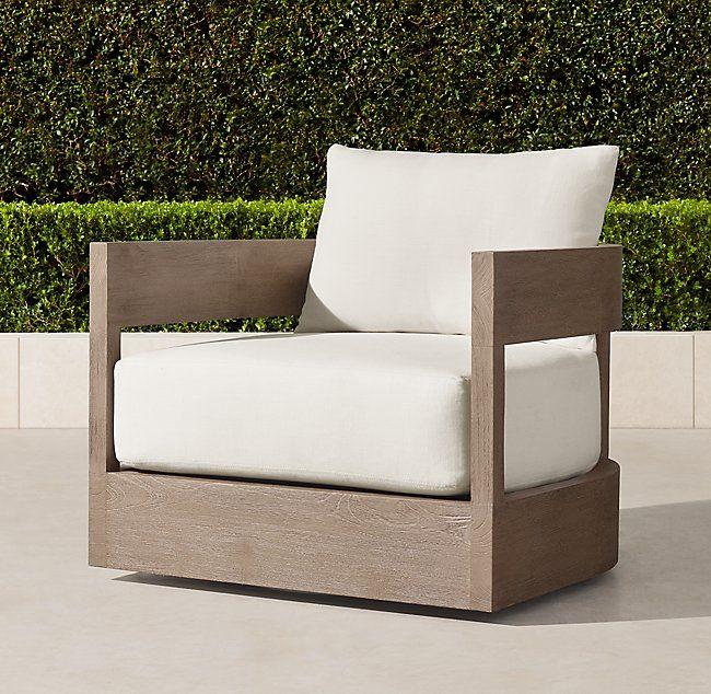 Wondrous Balmain Teak Swivel Lounge Chair Doha Cigar Lounge Pabps2019 Chair Design Images Pabps2019Com
