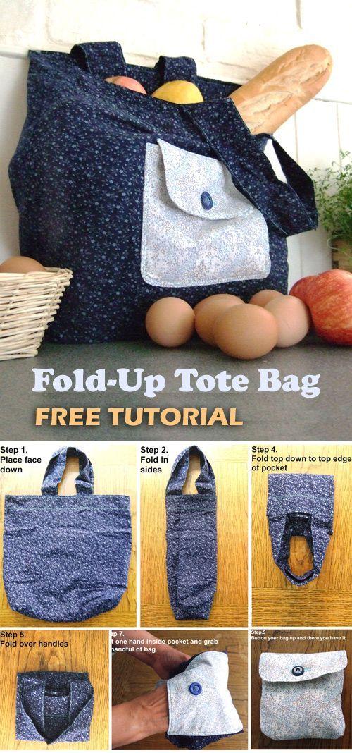 FoldUp Tote Bag Tutorial  Easy Step to Step DIY