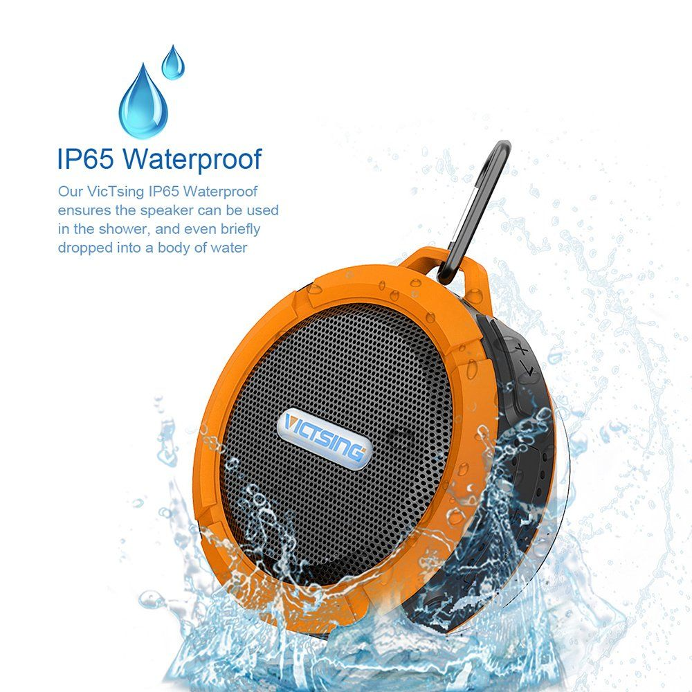 Victsing Shower Speaker Wireless Waterproof Speaker 5w Driver Suction Cup Built In Mic Hands Free Speake Bluetooth Speakers Portable Speaker Shower Speaker