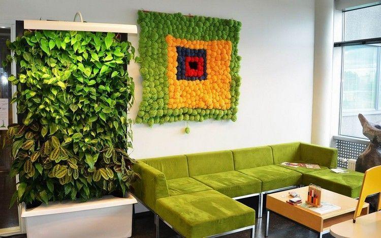 mooswand selber machen pflanzenwand moosbild grüne wand wandgarten ...