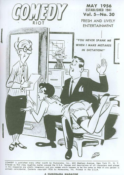 Spank office cartoon yet did not