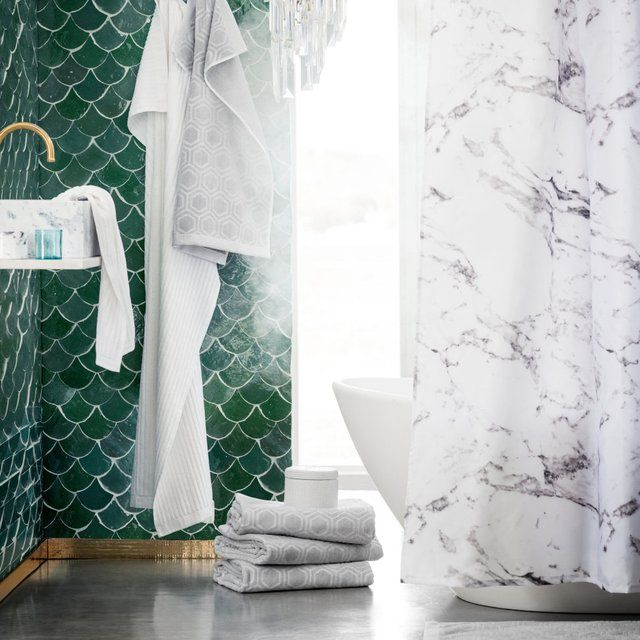 71) Fancy - Marble Shower Curtain | For the Home | Pinterest ...