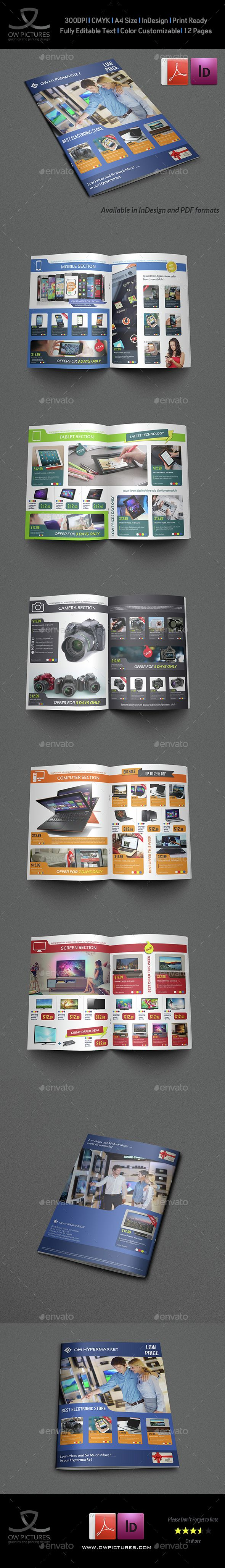 Electronics Products Catalog Brochure - 12 Pages | Catálogo
