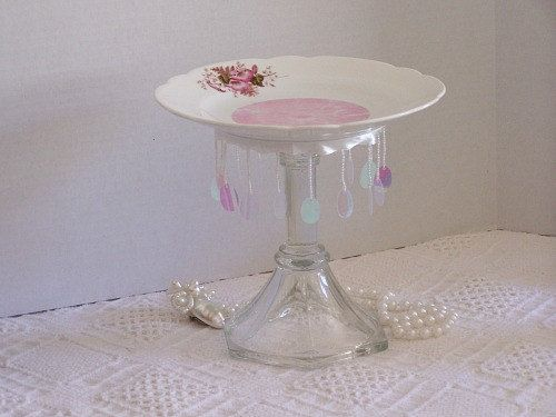 Pink Cupcake Dessert Candle Pedestal Stand Soap by LilacsNDreams, $16.00