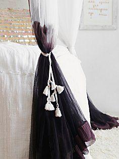DIY Idea: Dye White drapes