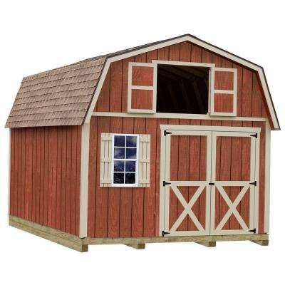 Wood Storage Shed Kit with Floor Including 4  sc 1 st  Pinterest & Millcreek 12 ft. x 20 ft. Wood Storage Shed Kit with Floor Including ...