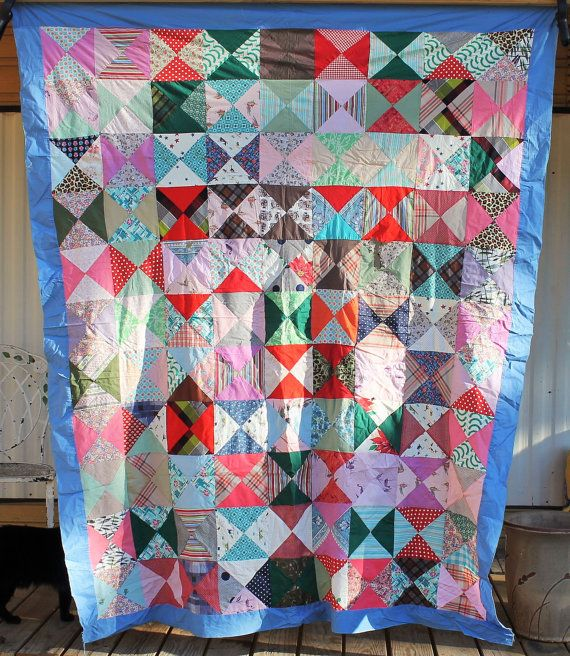 ANTIQUE Unfinished QUILT TOPS For Sale Vintage by RecycledSalvage ... : quilt tops for sale - Adamdwight.com