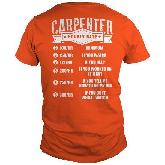 I Love Carpenter hourly rate Shirts