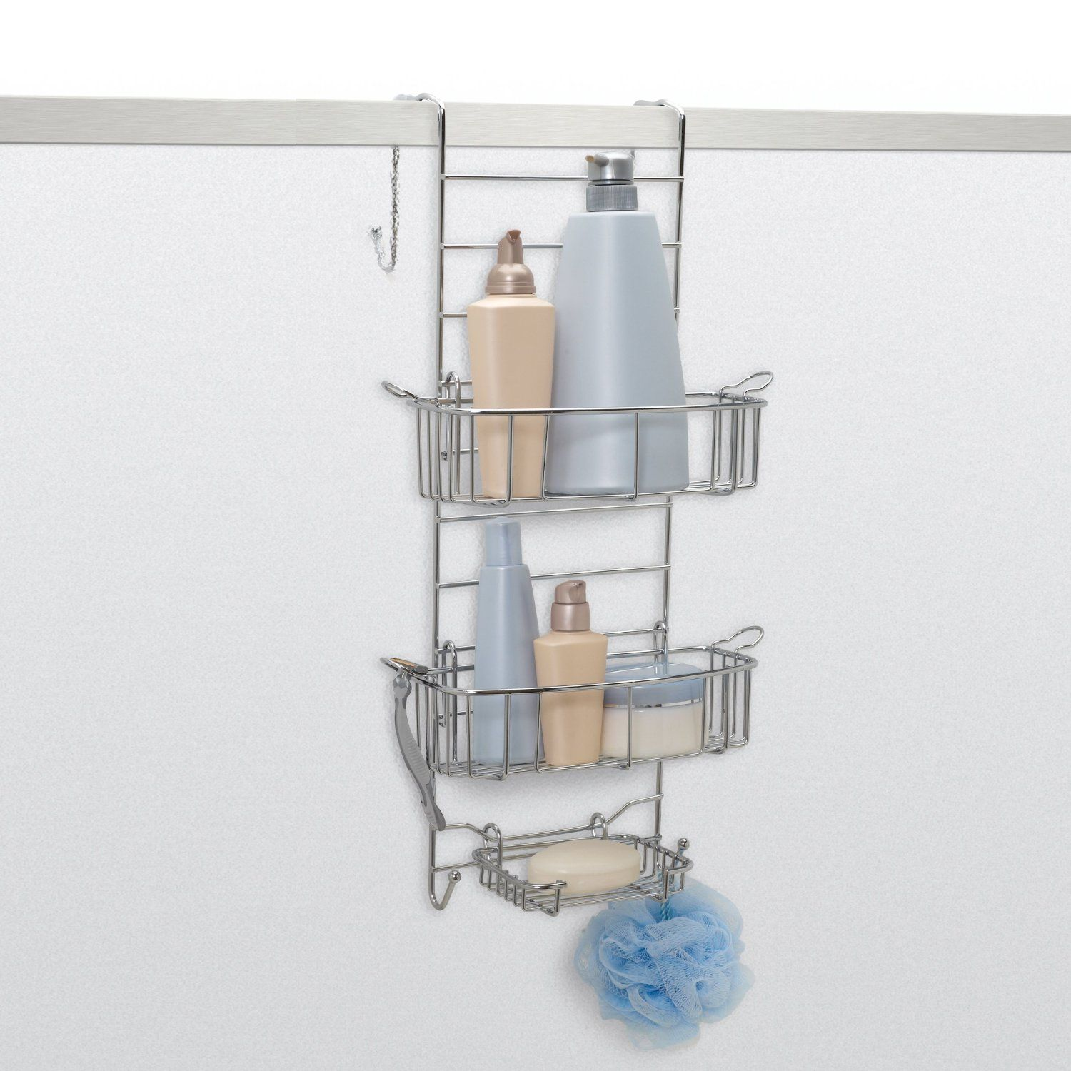 Zenith Products E7803STBB Over the Shower or Tub Door Caddy ...