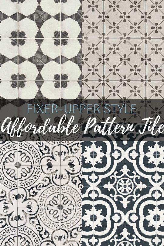 Farmhouse Style on a Budget: Affordable Pattern Tile - Maebells