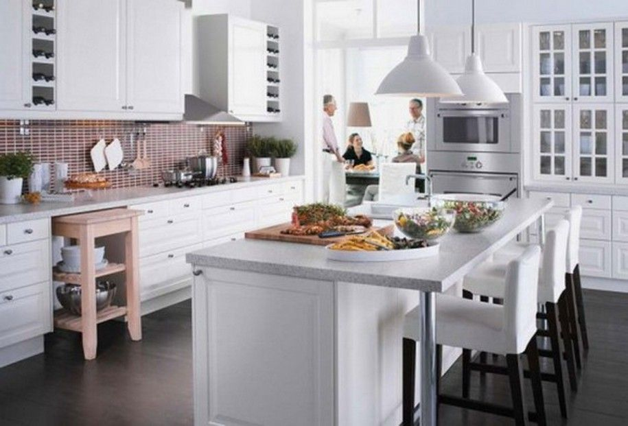 Excellent White Themed Ikea Design Inspiration With White Kitchen ...