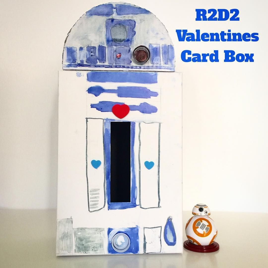 Valentines Day Card Box Star Wars R2D2 card box ... great for boys and other kids who need a class box for all their Valentines goodies