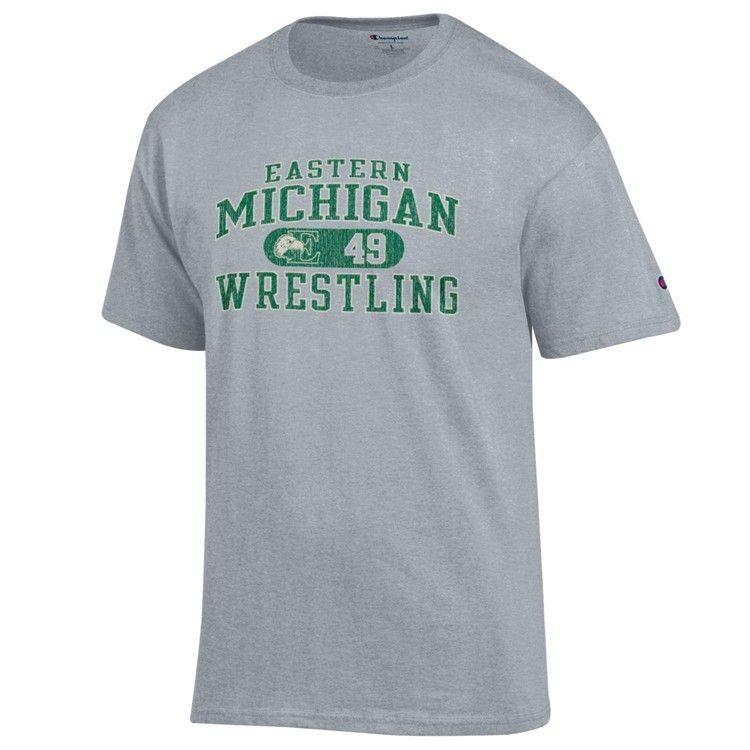 Eastern Michigan Eagles Wrestling T Shirt Ncaa Apparel Eastern Michigan Wrestling Shirts