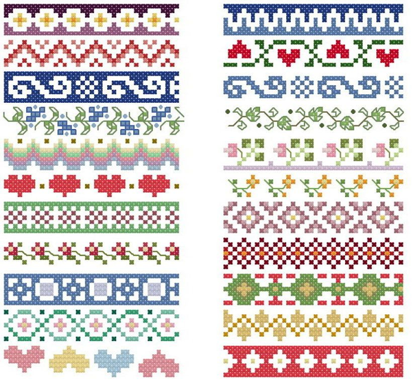 SOLO TOALLAS Y CENEFAS | PUNTO DE CRUZ | Cross stitch borders, Cross ...