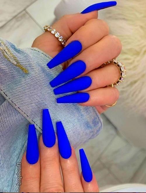 Acrylic Nails Blue Coffin Nails Acrylic Nails Coffin Blue Acrylic Nails
