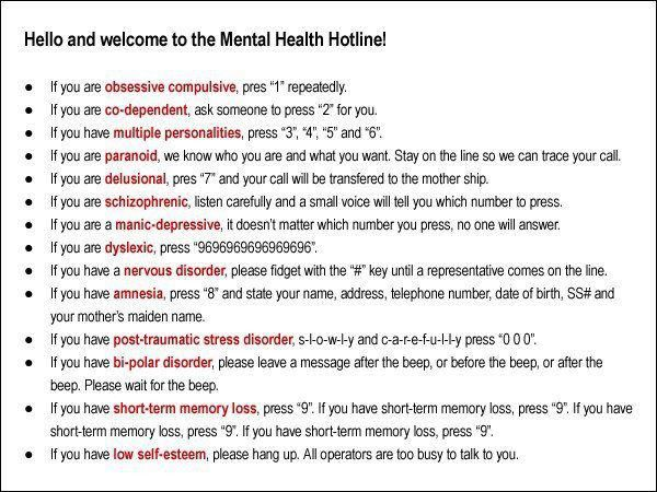 Hello and welcome to the mental health hotline