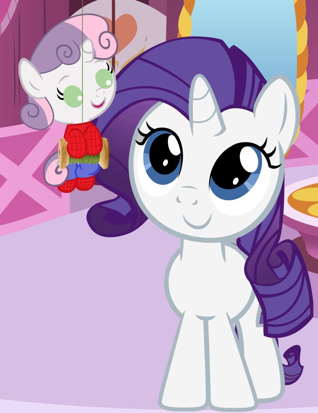 My little pony rarity and sweetie belle - photo#47