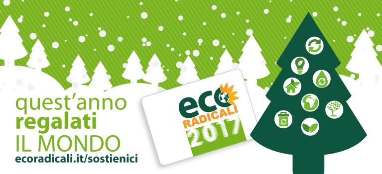 La tua iscrizione a EcoRadicali. Per difendere la vita del Pianeta. Per migliorare la qualità della vita: di tutti. Il tuo contributo fa la differenza!
