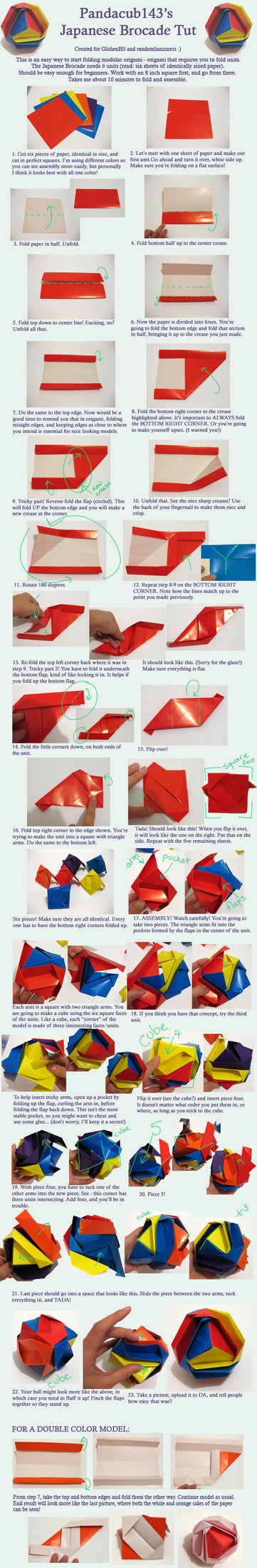 Origami Brocade Tutorial By Pandacub143 On Deviantart Origami Origami Diagrams Origami Tutorial