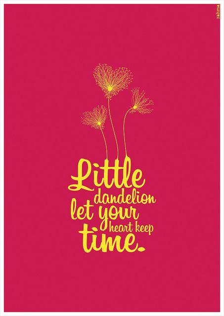 Little Dandelion Dandelion Tattoo Quote Soundgarden Lyrics