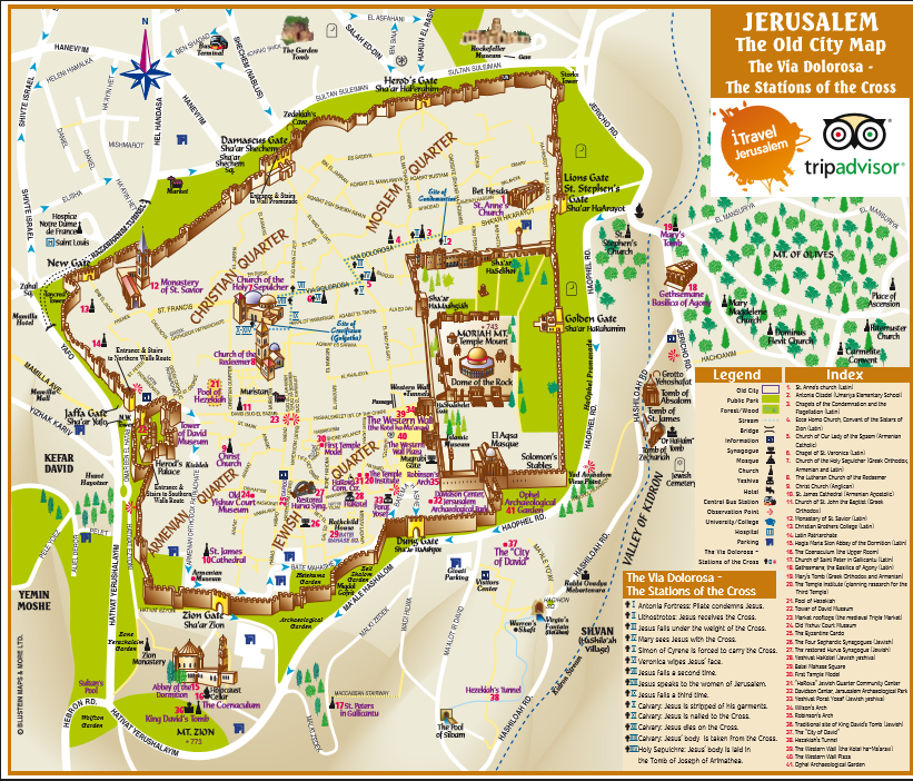 World Map Finder Of Jerusalem. Old Jerusalem Map about the Stations of cross Maps  Part II Tour guide and Israel