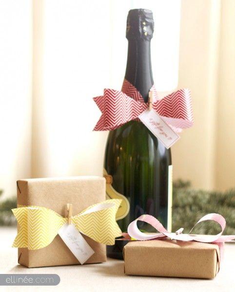 id es de paquets cadeaux originaux pour no l diy la. Black Bedroom Furniture Sets. Home Design Ideas
