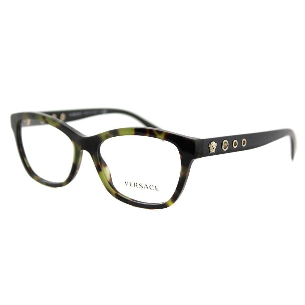 3db78603848 Versace VE 3225 5183 Avana Military Plastic 54-millimeter Cat-eye ...
