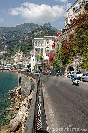 Amalfi Coast Road in Italy... would love to be on a scooter here too!