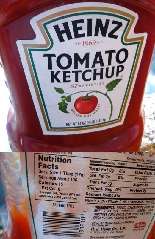 Heinz Ketchup Glutenfrei