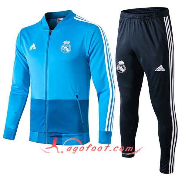 Nouveaux Ensemble Survetement de Foot Veste Real Madrid