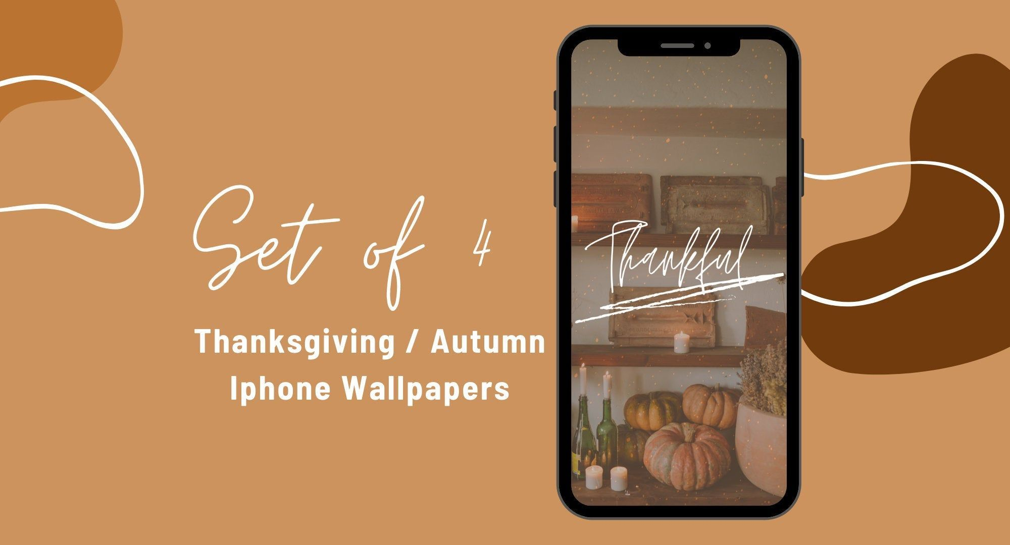 Thanksgiving Fall Autumn Wallpapers Set Of 4 Iphone Etsy In 2020 Iphone Wallpaper Fall Iphone Art Wallpaper