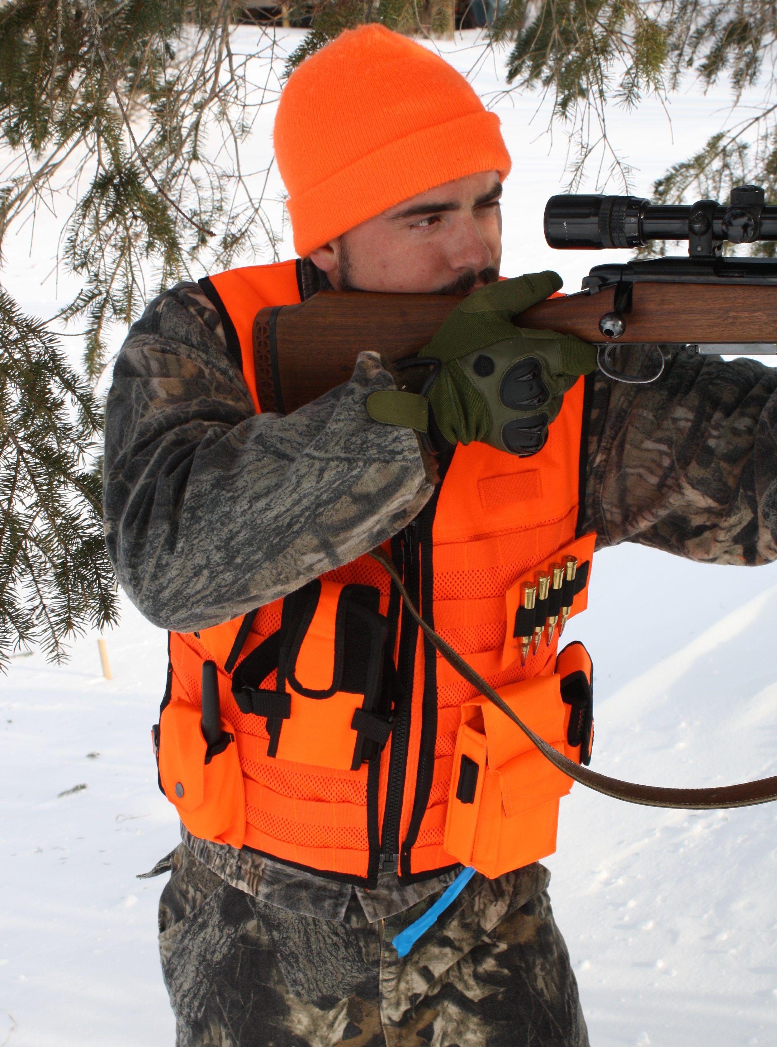 Blaze Orange MOLLE Vest Orange hunting vest, Hunting