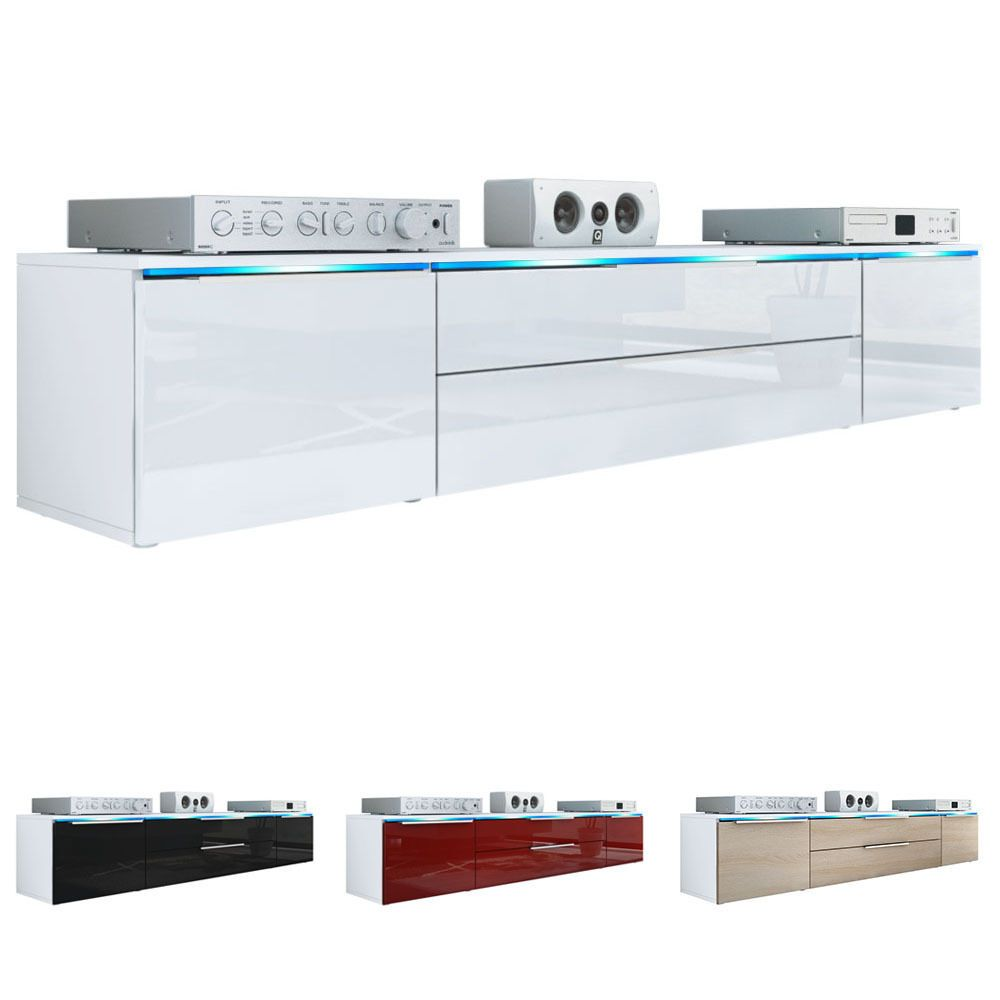 High Gloss Storage Cabinets Details About Tv Unit Stand Cabinet Triest White Matt High Gloss