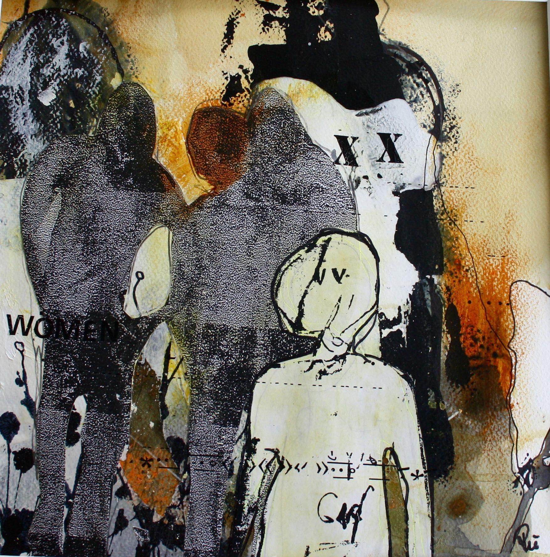 Mennesker Maleri Collage Abstrakt Art Udstillinger Kursus Akrylmaleri Rie Brodsgard Kolding Galleri Kunstnere Kunsttryk Udstillinger
