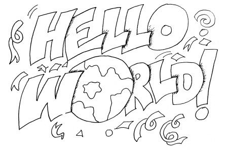 Hello World Coloring Page Coloring Pages World Map Coloring Page Free Printable Coloring Pages